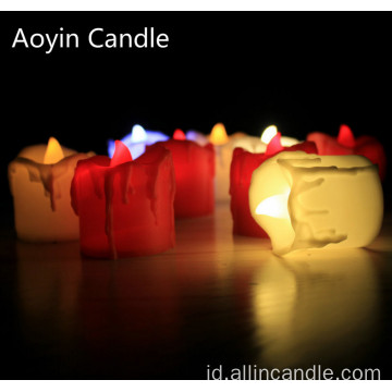 Baterai Dioperasikan Tealight Set Tealight Led Flameless