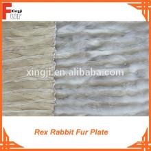 Material de piel, placa de piel de conejo Rex