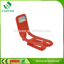 2015 new ABS and rubber material flexible 1 led mfga book light
