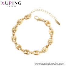 75784 Xuping Jóias banhado a ouro elegante estilo de luxo Mulheres moda Pulseira