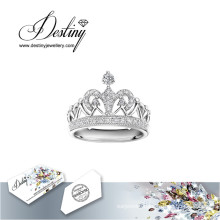 Destiny Jewellery Crystal From Swarovski Ring Crown Ring