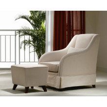Fabric Sofa Chair with Stool / Living Room Sofa (SMT-Y2003)