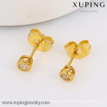 nouvelle mode 24k boucles d'oreilles en or conçoit des boucles d'oreilles en pierre blanche