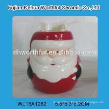 Рождественский керамический Санта зубочистка держатель