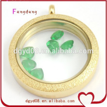 Hot fashion accessories girls gold color locket pendant necklace pendant