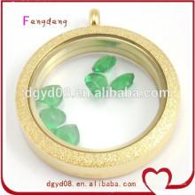 Hot moda acessórios meninas pingente de colar de pingente de medalhão de cor de ouro