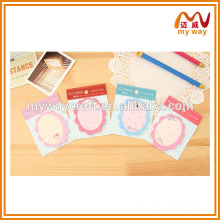 Beautiful mirror sticky notes as mini office stationery set