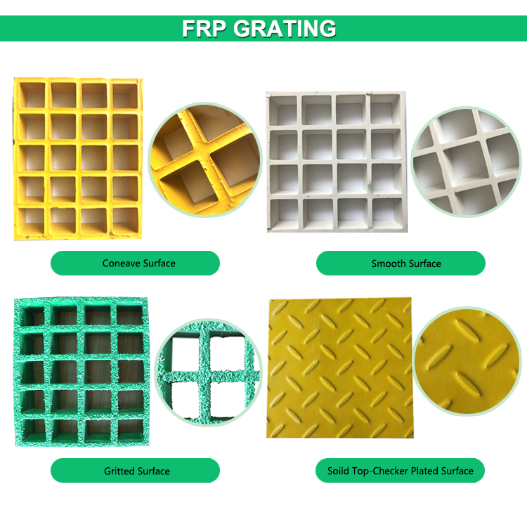 surface treatment of fiberglass grating