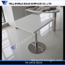 Artificial Stone High Gloss White Home Dining Table/Restaurant Fast Food Table