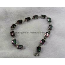 Pulseras de la joyería de plata cuarzo místico (BR0042)