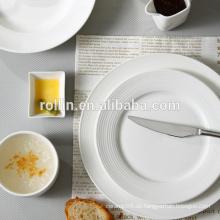 Hotel & Restaurant weißes Porzellanteller, Mikrowellensicheres Geschirr, italienisches Design Restaurant Geschirr