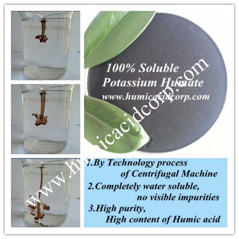High Water Solubility Humic Acid Potassium Humate Fertilizer