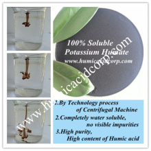 100% soluble potassium humate shiny powder/crystal/flakes