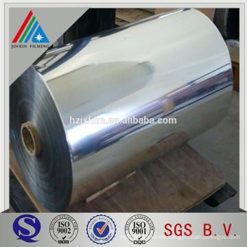 Película de poliéster metalizada de aluminio