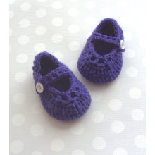 Crochet Baby l Shoes Purple Knitting Booties