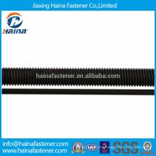 4.8 grade,8.8 grade black zinc plated all threaded rod