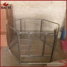 Jaula de perro de acero grande de alta calidad, jaula de perro de acero galvanizado, jaula de perrera de perro de 6 pies