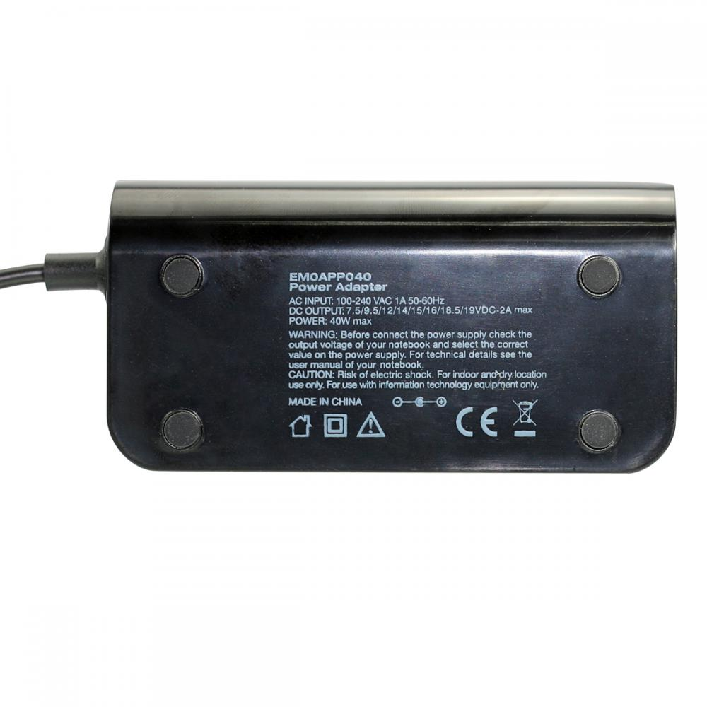 Universal AC Power Adapter -40W