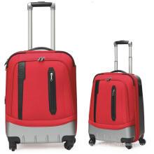 Bolsa de equipaje nylon ABS casos 2 bolso de la carretilla del equipaje conjunto por vocación viajando