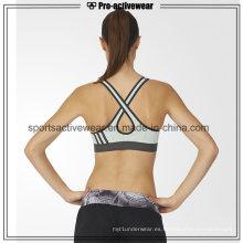 Las mujeres vendedoras calientes de la manera del OEM empujan para arriba el sujetador trasero inconsútil del deporte de la parte posterior