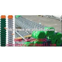 PVC beschichtete galvanisierte Kettengliedmaschen-Diamantzaunfilettrolle für Tier oder Sport