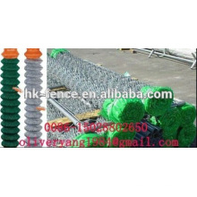 pvc coated galvanized chain link mesh diamond fence netting roll for animal or sports