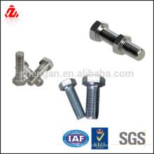 Fabricado en China peso de perno hexagonal de acero inoxidable