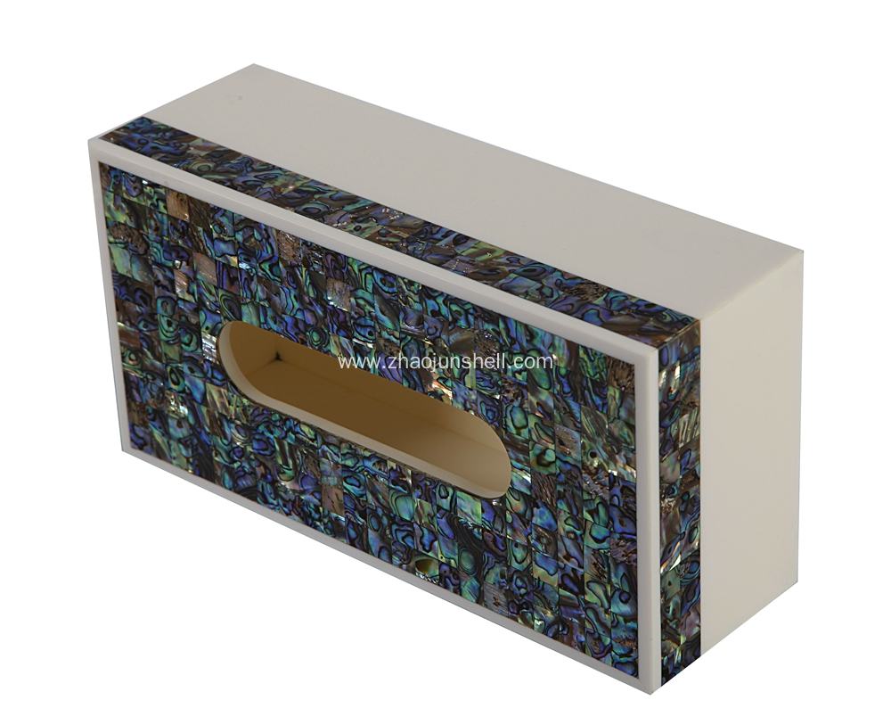 Abalone Shell Mosaic Tissue Box for Hotel