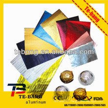 Printed silver gold aluminum foil for chocolate wrapper