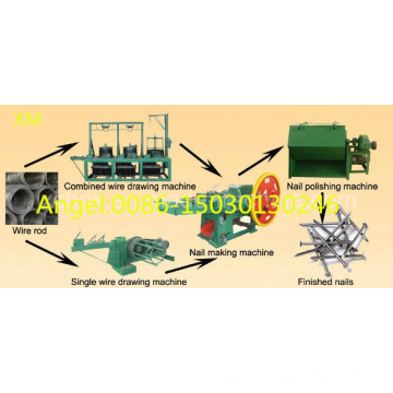 Low Noise High Speed Durable Nail Production Line Automatic Wire Nail Making Machine Factory