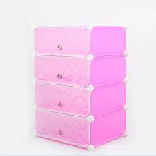 Печать DIY Пластиковые складные шкафы для шкафа для дома (ZH0022)