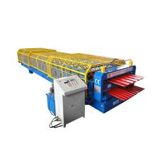 Máquina formadora de planchas de acero de doble cubierta IBR Color