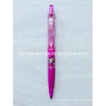 Пластиковый прозрачный цветный механический карандаш с треугольным цилиндром