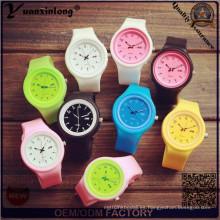 Yxl-988 Top venta unisex lindo silicona de cuarzo deportivo estilo lápiz patrón reloj mujeres jalea muñeca cuarzo-reloj