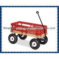 Baby Kinder Kinder vier Räder Holzklappwagen Warenkorb Werkzeugwagen Im Freien, der Strandpark