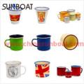 Customized Design Logo Printed Enamel Tumbler, Enamel Mugs, Enamel Coffee Cup