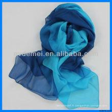 Hot Sell Echarpe en soie à imprimé numérique coloré