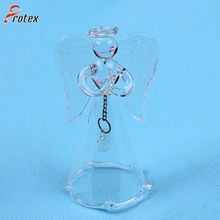 Hand Blown Transparent Glass Christmas Glass Bell for Decoration