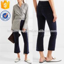 Бархат Кадрированные хлопка-Blend бархата клеш брюки Производство Оптовая продажа женской одежды (TA3012P)