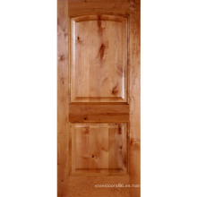 Puerta compuesta arqueada de 2 paneles Knotty Alder