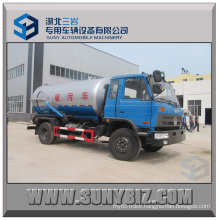Dongfeng 4X2 12000L Vacuum Suction Sewage Truck High-Pressure Sewer Flushing Vehicle