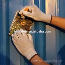 NMSAFETY antiestática nylon-carbono ESD luva luvas de mão de trabalho PU