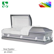 JS-ST653 luxury adult top caskets coffins supplier