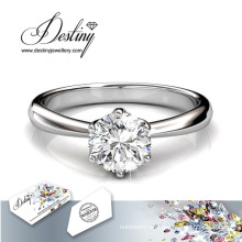 Destino joyería cristal de Swarovski anillo