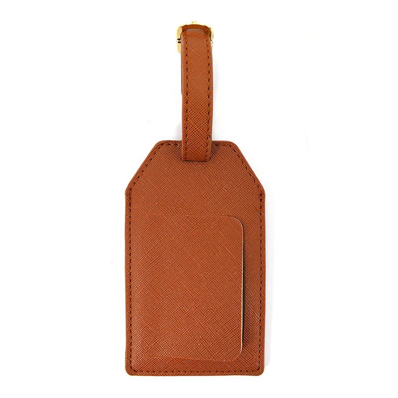 Metal Buckle Strap Travel Loop Leather Luggage Tag