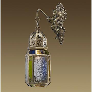 Estilo marroquino handcrafted lanterna (l19-1b)