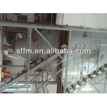 Fermentation residue production line