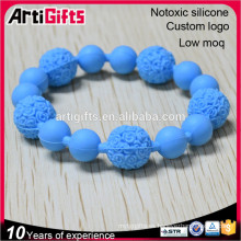 Fashion bead bracelet jewelry elastic faceted silicone elegant bead bracelet