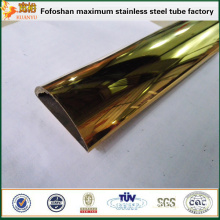 FOSHAN KUANYU pvd mirror gold stainless steel pipe decorative inox frame for decoration material
