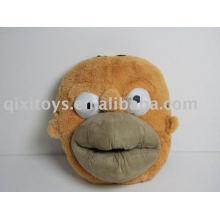 chaussures d'intérieur en peluche de singe en peluche, jouet animal pantoufle